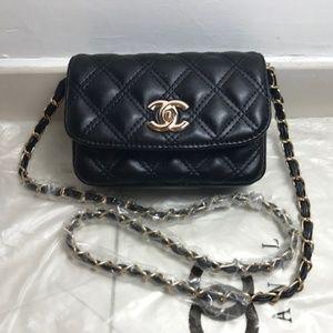 Chanel Cross Body Shoulder bag waist bag evening